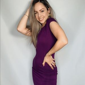 Purple Skin Tight Dress